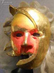 Maschera Sole Luna in cartapesta art MXCP017