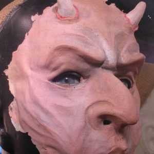 Latex devil mask
