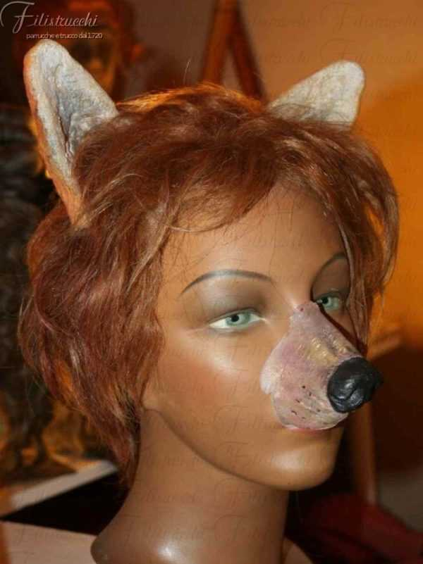 NASO da VOLPE art NSL035 con orecchi su parrucca