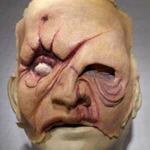 Foamed latex Zombie Cicatricum Mask
