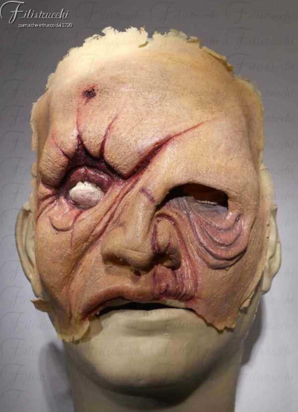Maschera in lattice schiumato da Zombie colore carne