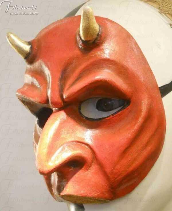 Maschera da Diavolo in cartapesta art MXCP006
