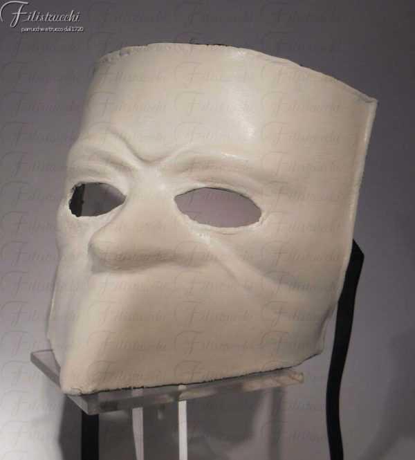 Maschera Larva bianca art MXCP002