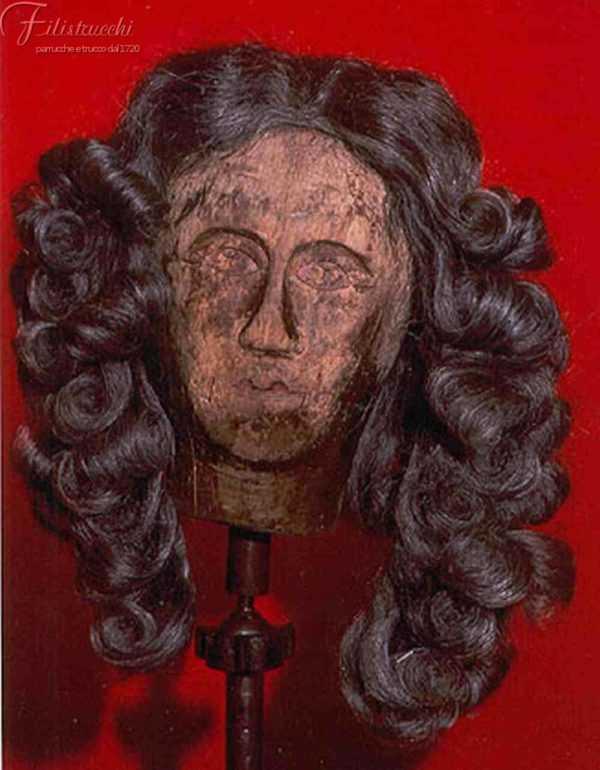 Parrucca '600 da uomo colore grigia con stole Art 600SM