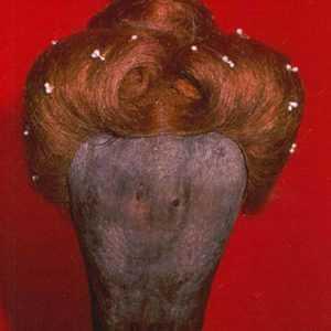Parrucca stile elisabettiano in capelli naturali con decorazioni art R02
