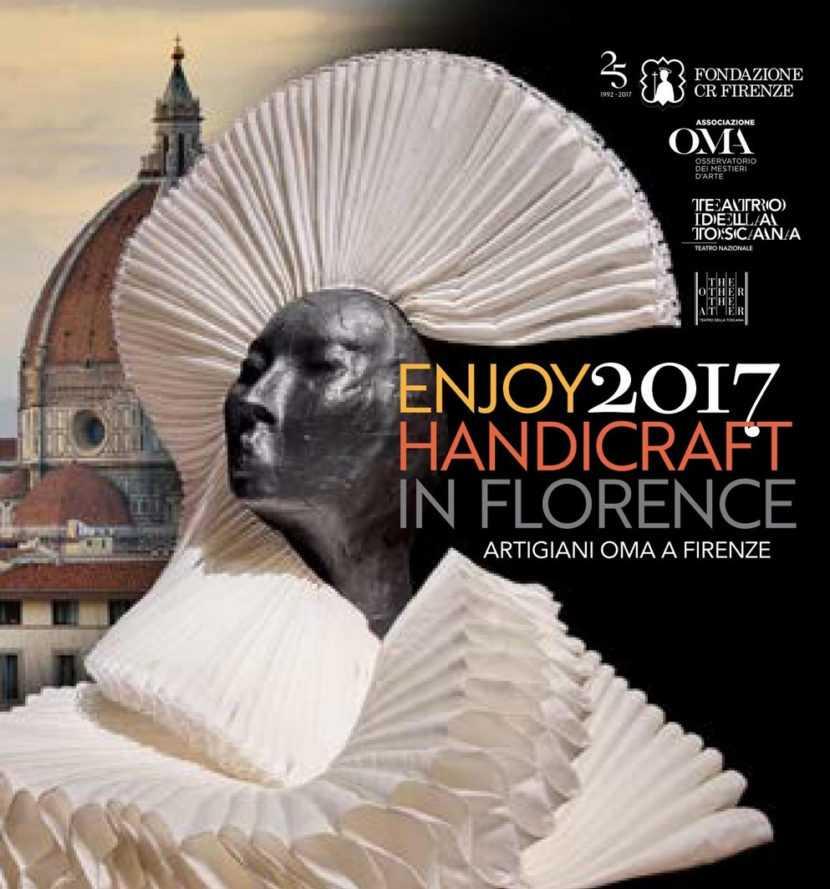 Mestieri del Teatro 2017 Copertina mappa si intravede sullo sfondo la cupola di Firenze e in primo piano un manichino
