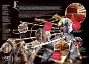 interno della mappa oma Enjoy Handicraft Mestieri del Teatro dove si vede anche le parrucche della bottega filistrucchi