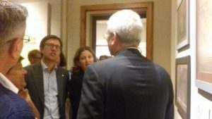 Il Sindaco Dario Nardella con il Vice-sindaco Cristina Giachi in visita al percorso espositivo della Fondazione
