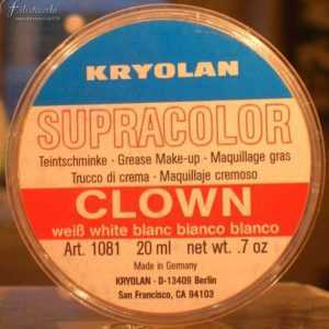 Supracolor Kryolan, Clown White 30 ml art 1081