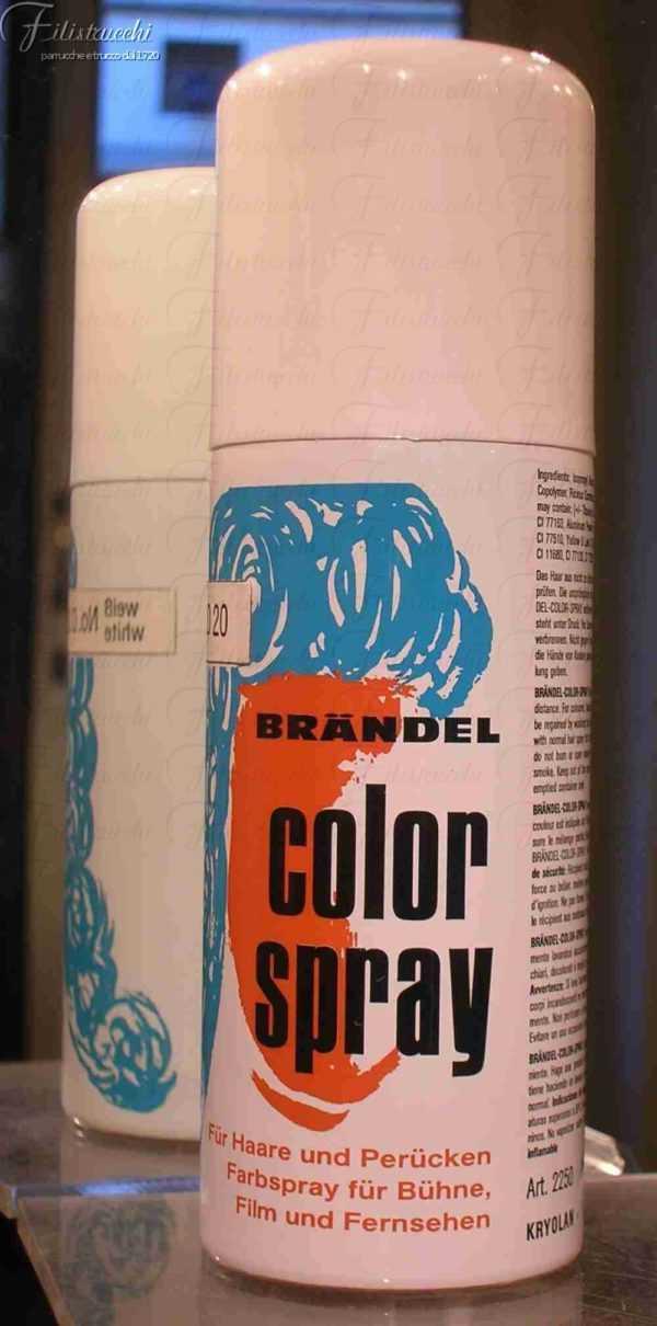 immagine di una lacca spray Kryolan colore Bianco D20 art 2250