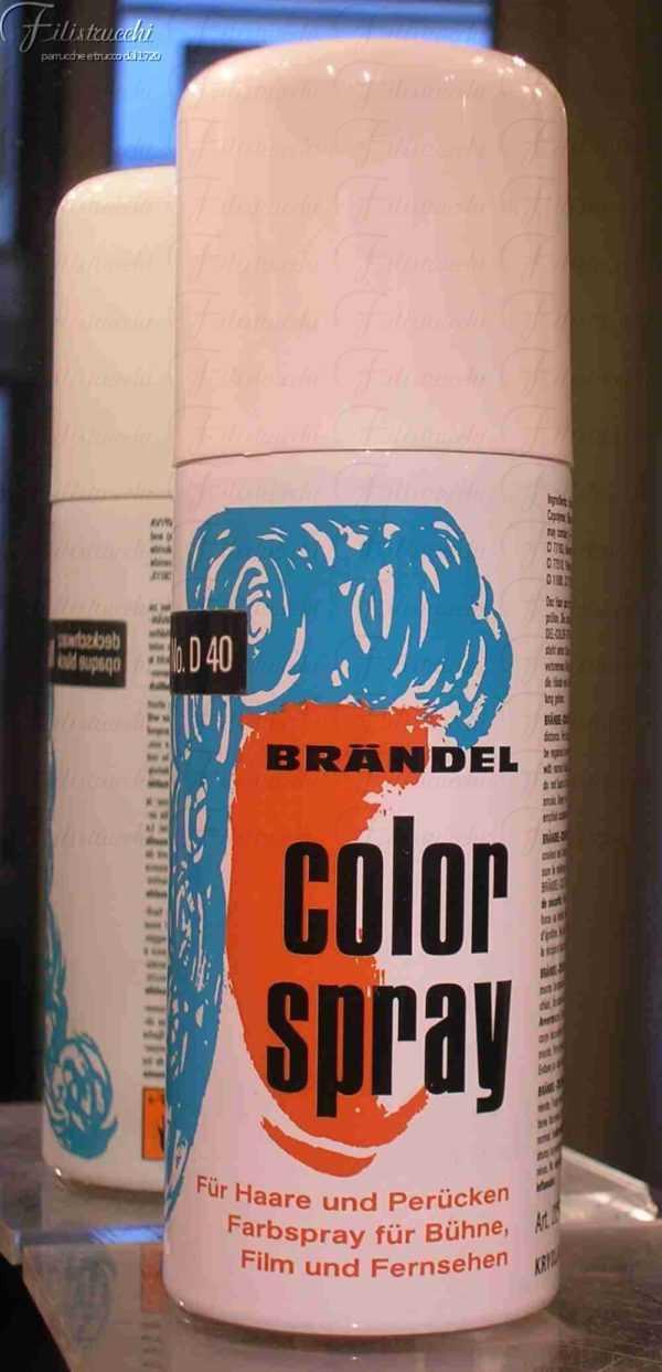 immagine di una lacca spray colore nero D40 art 2250 di Kryolan