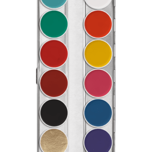 Aquacolor Kryolan Pallette 12 colori art 1104 FP