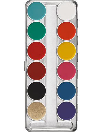 Palette Aquacolor Kryolan 12 colori FP art 1104