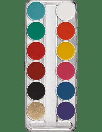 Palette Aquacolor Kryolan 12 colori FP art 1104