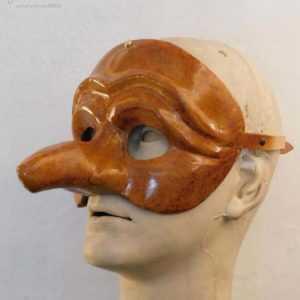 Zanni maschera in cuoio art MCU-TA008