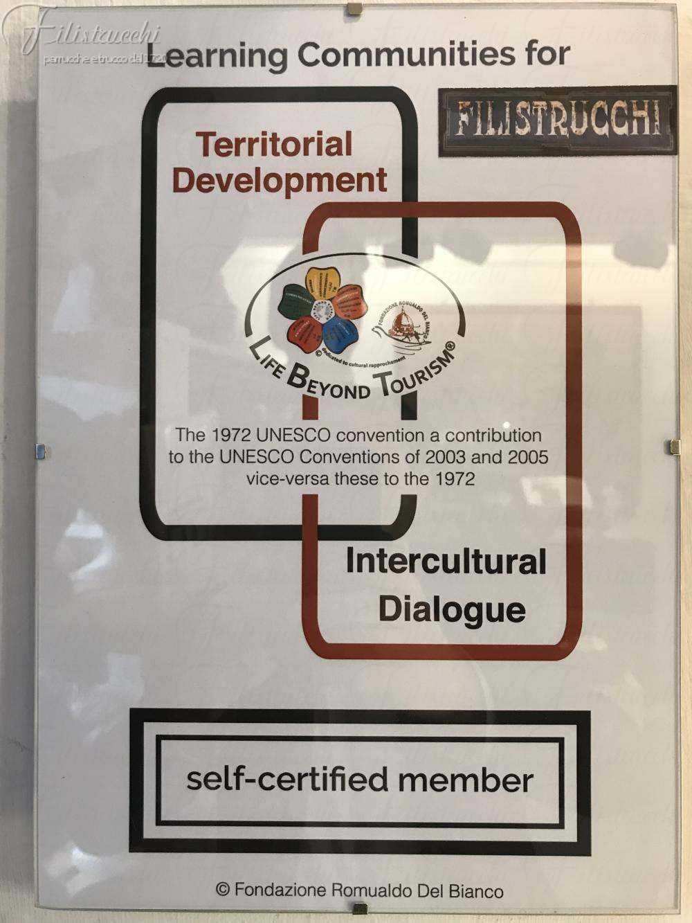 La certificazione Filistrucchi di Life Beyon Tourism