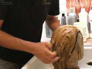Shampoo a una parrucca Filistrucchi