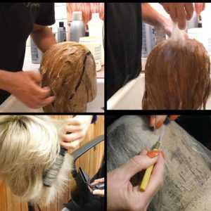 Lavaggio e colore Parrucca in capelli naturali