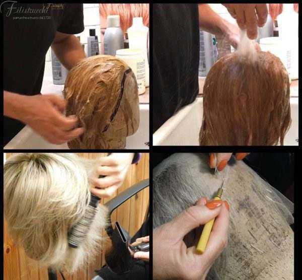 Lavaggio Parrucca in capelli naturali