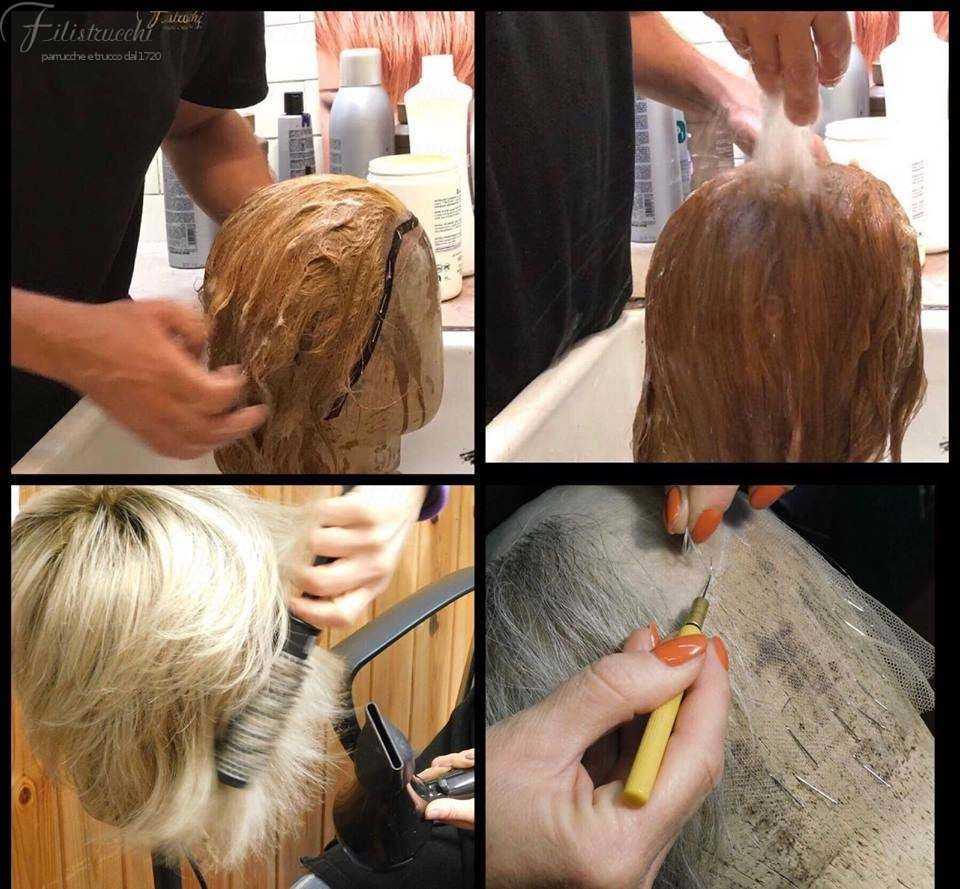 Manutenzione, pulitura e conservazione delle nostre parrucche e toupet in capelli naturali.