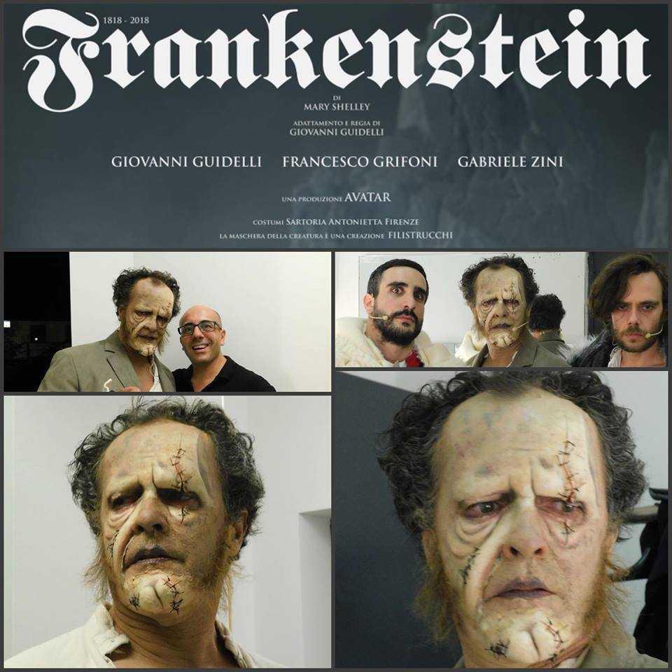 Frankenstein: E' andato in scena la prima dello spettacolo di Giovanni Guidelli