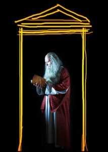 eonardo da Vinci Anchiano, ologramma nella casa natale. Trucco Filistrucchi