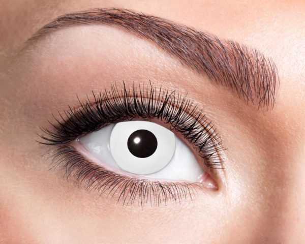 Lenti a contatto trimestrali cosmetiche con iride bianca