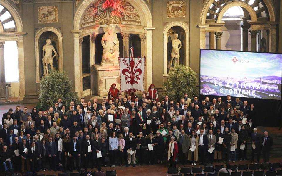 Prima Giornata delle Attività Storiche Fiorentine. Salone dei Cinquecento