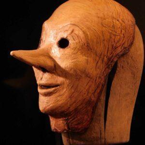 Pinocchio : Maschera in Cartapesta realizzata da Filistrucchi
